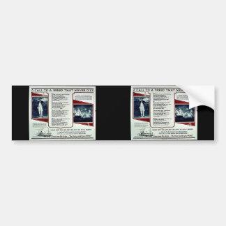 Wwii Navy Recruit2 Bumper Stickers