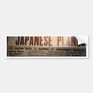 WWII Newspaper Bumper Sticker