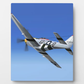 WWII P51 Mustang Fighter Plane Plaque
