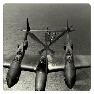 WWII P-38 Lightnings Wallclock