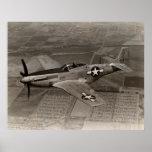 WWII P-51 Mustang in Flight Print