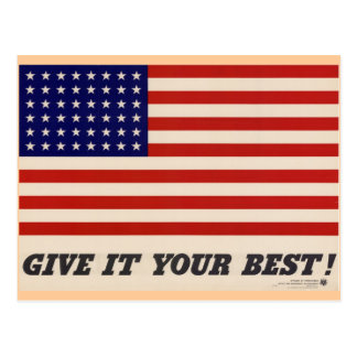 WWII Patriotic Poster Post Card