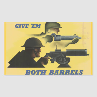 WWII Patriotic Poster Rectangular Sticker