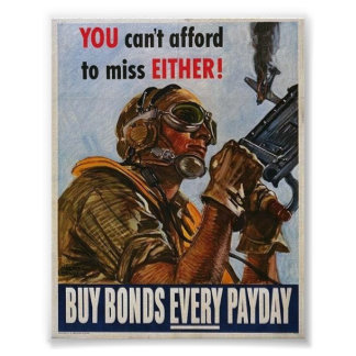 WWII Patriotic Poster  War Effort