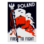 WWII Poland, First to Fight Poster