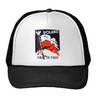 WWII Poland, First to Fight Poster Trucker Hat