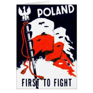 WWII Poland, First to Fight Poster Note Card