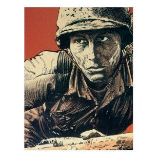WWII Soldier Postcard