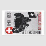 WWII Swiss Recon Motorcycle Rectangular Stickers
