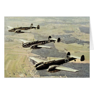WWII Three Messerschmitt ME-110 Note Card