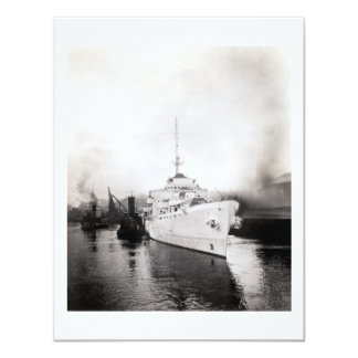 WWII US Coast Guard Cutter Campbell Card