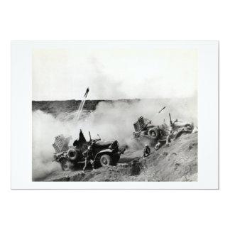 WWII US Marine truck mounted rockets, Iwo Jima 13 Cm X 18 Cm Invitation Card