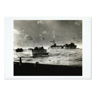 WWII US Marines assault Iwo Jima 13 Cm X 18 Cm Invitation Card