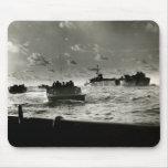 WWII US Marines assault Iwo Jima Mouse Pad