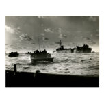 WWII US Marines assault Iwo Jima Postcard