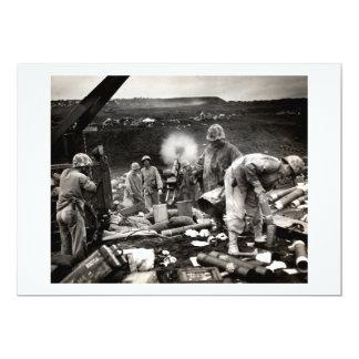 WWII US Marines on Iwo Jima 13 Cm X 18 Cm Invitation Card
