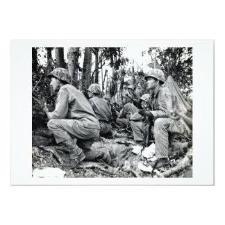 WWII US Marines on Peleliu 13 Cm X 18 Cm Invitation Card