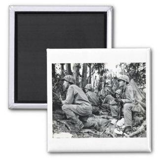 WWII US Marines on Peleliu Magnet