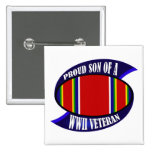 WWII Vet Son 15 Cm Square Badge