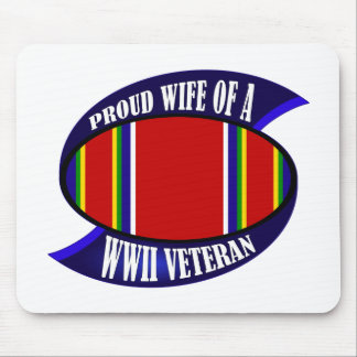 WWII Vet Wife Mouse Pad
