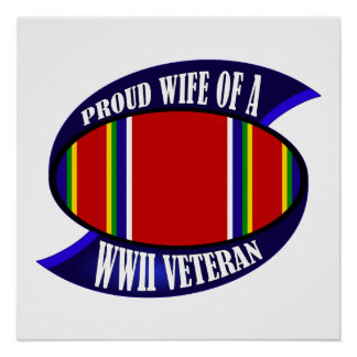 WWII Vet Wife Poster