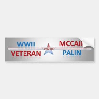 WWII Veteran votes (bumper sticker) Bumper Sticker