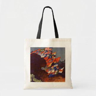 WWII Vintage Poster Bag Budget Tote Bag