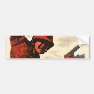 WWII Vintage Poster Bumper Sticker