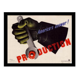 WWII Vintage Poster Postcard