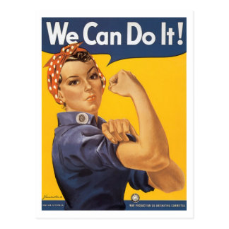 "WWII ""We Can Do It!"" Postcard"