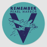 WWII White Remember Pearl Harbour Sticker