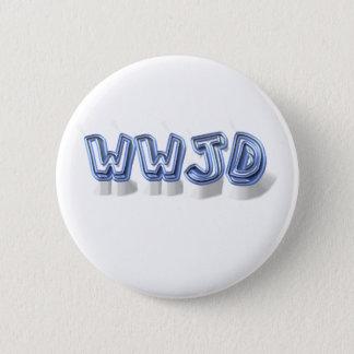 wwjd 6 cm round badge