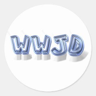 wwjd classic round sticker
