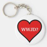WWJD heart Keychains