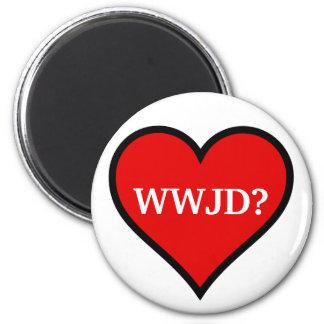 WWJD Heart Magnet