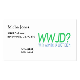 WWJD PACK OF STANDARD BUSINESS CARDS
