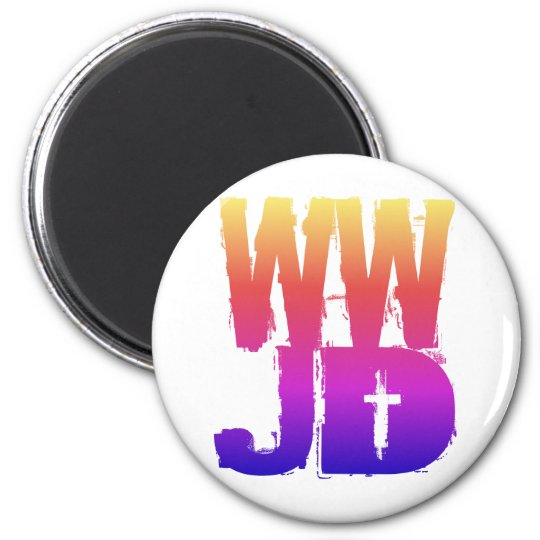WWJD What Would Jesus Do 6 Cm Round Magnet
