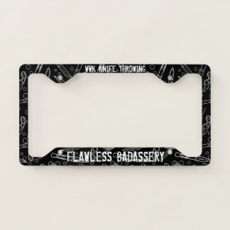 WWK KNIFE THROWING LICENSE PLATE FRAME