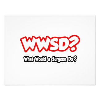 WWSD What Would a Surgeon Do Invites