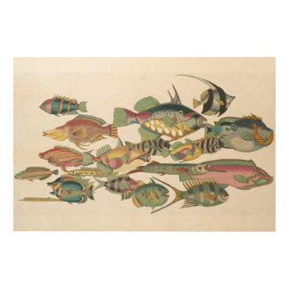 WWW FISH Wood Blocks Wood Prints