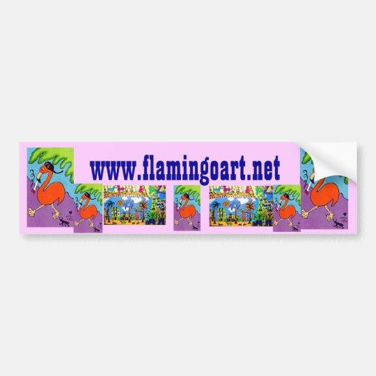 www.flamingoart.net bumper sticker