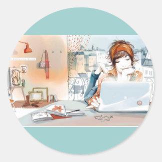 www.Garcya.us_stylish_people_6_800x600 Classic Round Sticker