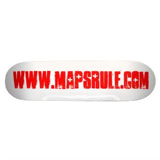 www.mapsrule.com 21.6 cm skateboard deck
