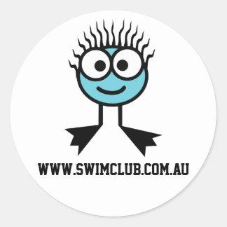 www.swimclub.com.au - BlueCharacter Stickers