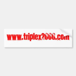 www.triplex2000.com bumper sticker