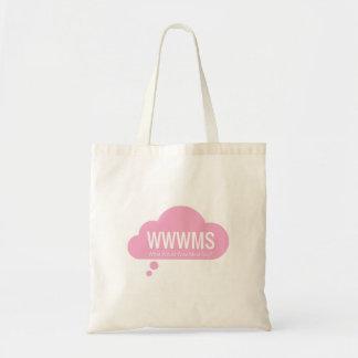 WWWMS? Pink thought cloud DBT slogan