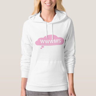 WWWMS? Pink thought cloud DBT slogan Hoodie