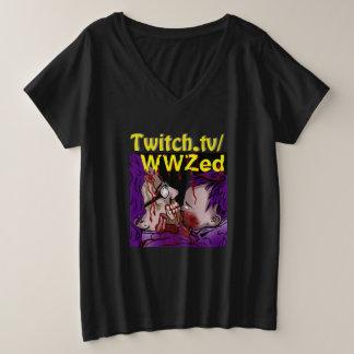 WWZed Plus Size V-Neck T-Shirt