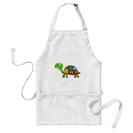 WX- Colorful Turtle Primitive Art Aprons