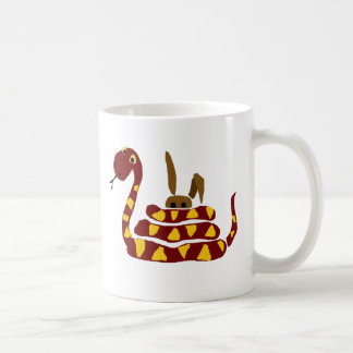WX- Funny Snake Squeezing Rabbit Cartoon Mugs